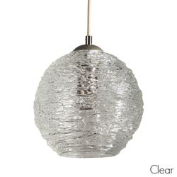 Spun Glass Pendant Light | Clear II